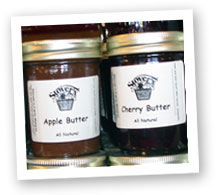 Fresh made Fruit Butters at Stover's Farms in Berrien Springs, Michigan