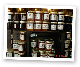 Fresh made Jams at Stover's Farms in Berrien Springs, Michigan
