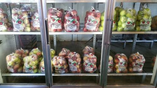 Fresh apples in the Big Red Barn